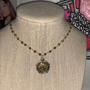 Gold and Silver Coin Necklace